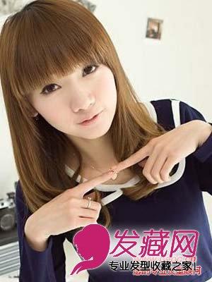 齐刘海适合什么脸型,最新齐刘海发型扎法(5)