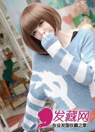 中长齐刘海梨花头发型 按照脸型选择适合的发型(6)图片