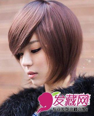 发型网 女生发型 女生短发发型 > 小清新范短发发型设计 整体造型非常图片