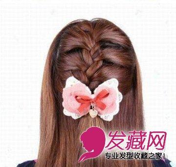 公主系蝎子辫半扎发发型详细步骤(8)