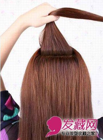 公主系蝎子辫半扎发发型详细步骤(2)