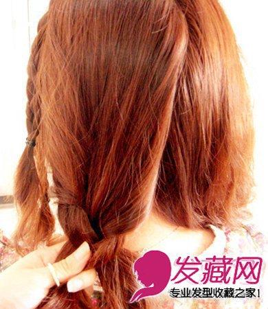 麻花辫盘发长发变短发教程图解(7)图片