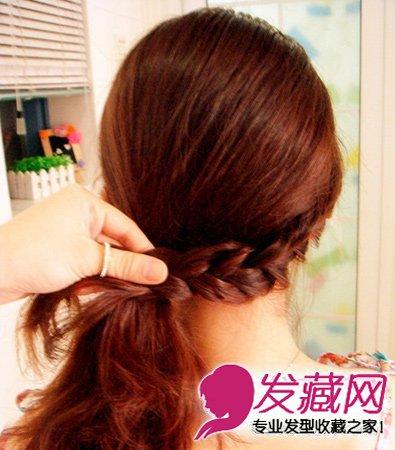 【图】打造俏皮公主范 编发侧扎发发型(6)_编发教程