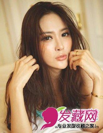 冬季选择中分刘海发型要注意什么 什么样发型显得脸小(4)图片