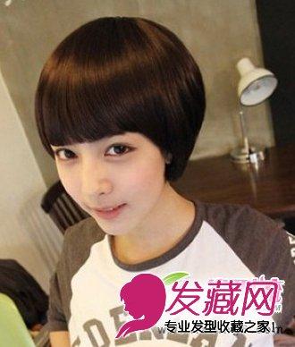 蘑菇头波波头发型图片