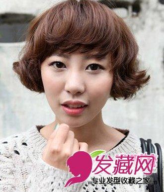 韩式秋冬短发烫发发型 时髦洋气女生烫发(3)图片