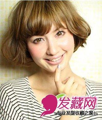 韩式秋冬短发烫发发型 时髦洋气女生烫发(6)图片