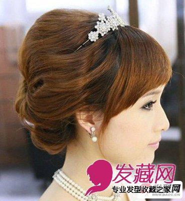 浪漫唯美新娘发型怎么弄(6)图片
