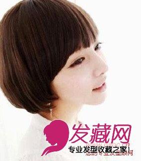 短发让你变小脸(5)  导读:发型点评:俏皮矮个子女生发型,甩饼脸想瞬变图片
