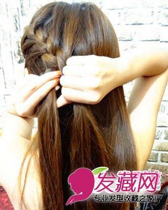 萝莉韩式发型编发步骤一