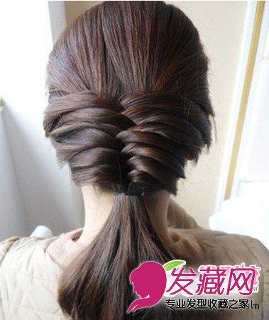 淑女韩式发型编发图解 打造气质女生发型图片