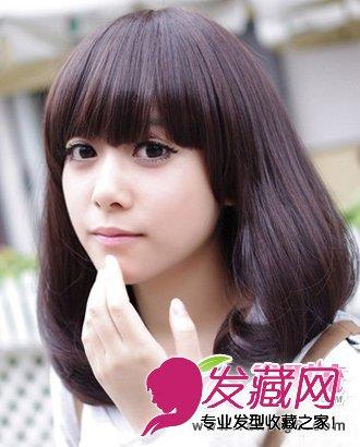 梨花头发型 > 圆脸适合的发型 五款精选梨花头发型(4)  导读:齐刘海图片