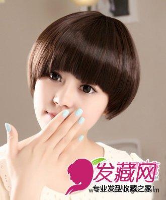 (3)  导读:蘑菇头短发发型 俏皮可爱的蘑菇头短发发型,也是2013年最流