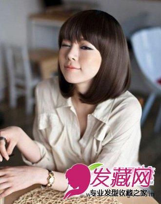 侧扎的马尾发型(6)  导读:波波头女生 短发 喜欢走甜美可爱路线的美眉