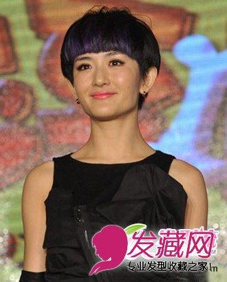 好像短发发型更加符合谢娜那活泼开朗的性格,显得格外的可爱,覆盖式的