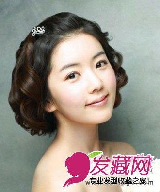 短发新娘发型设计 适合短发的新娘发型(3)