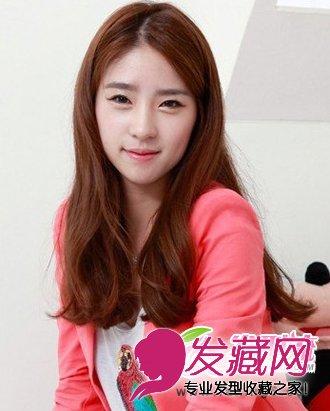 韩式发型女中长发微卷图片