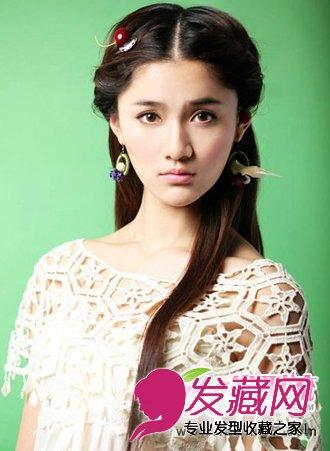 > 温婉淑女最爱 唯美小清新长发发型(5)  导读:长发发型扎发 将刘海发