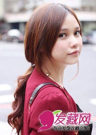 三七分刘海发型图片