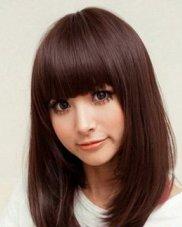 圆脸适合的发型图片  五款适合圆脸的发型