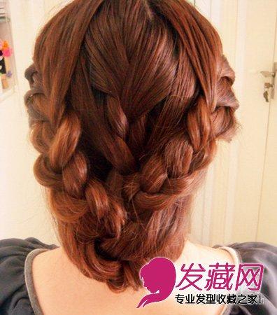 圣诞节发型怎么扎 唯美范麻花辫编盘发(7)