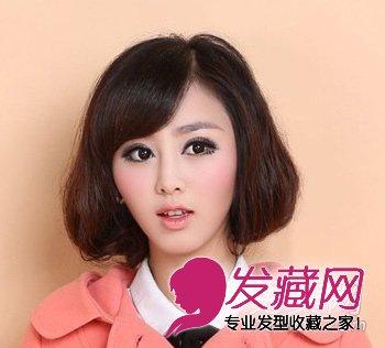 冬季圆脸适合的中短发发型(3)