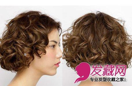 9款时髦长卷发发型 圆脸细碎齐刘海发型 →2015中长发烫发发型分享图片