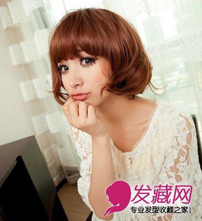 最新韩式波波头发型 修颜显气质(2)