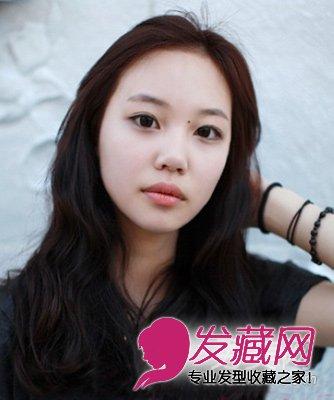 宽脸方脸适合的披肩卷发发型(3)