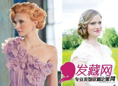 户外婚礼适合的发型 适合户外婚礼的小清新 →新娘发型 头发多短都
