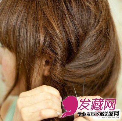蓬松短发发型扎法步骤(5)