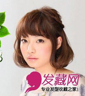 短发编发教程 适合圆脸女生的发型图片图片