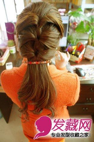 中长发发型扎法 名媛范甜美扎发图解(8)