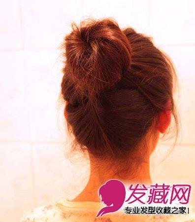 中短发怎么扎好看 中短发丸子头教程(8)