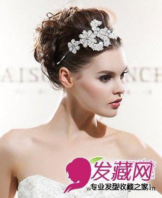 韩式新娘发型图片 皇冠加冕彰显贵族风(2)