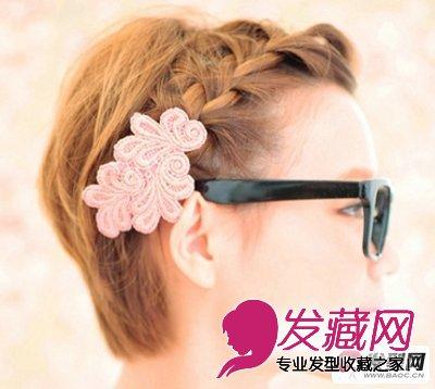 短发怎么扎好看 diy两款简单短发发型的扎法步骤(7)