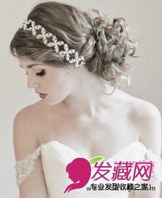低盘发新娘发型