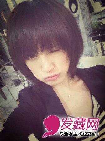 圆脸适合的短发发型 最新发型完美塑小脸(7)图片