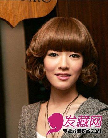 2015人气清新系短发发型图片 可爱小女孩味道(8)