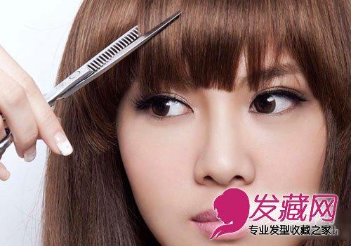 怎样自己剪刘海 diy刘海剪发教程(3)图片