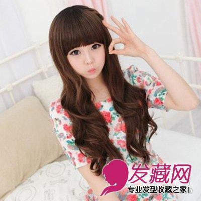 韩式减龄长卷发 美妞必备的潮流发型(2)