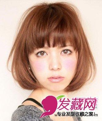 短发梨花头二八分的斜刘海发型魅力无限(5)