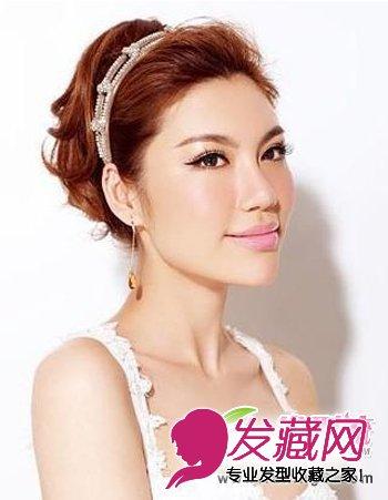 盘发 造型,制造出蓬松的发型效果,凸显新娘发型的时尚魅力, 刘海 发型图片