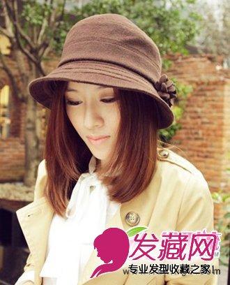 最新流行戴帽子发型 2015年流行发型(5)