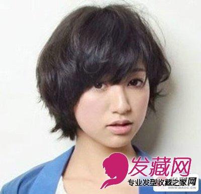 圆脸女生适合的短发发型图片(6)