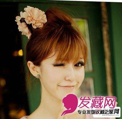 2015时尚女生刘海发型图片 塑造甜美娇俏女孩(2)图片