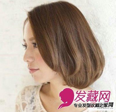 最新女生中知性成熟短发烫发发型(2)