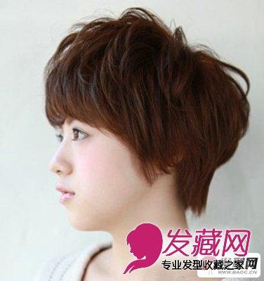 2015流行女生波波头短发发型 显得脸小的发型(4)