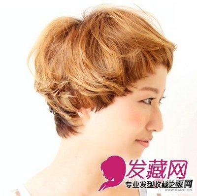 【图】女生短发烫发发型