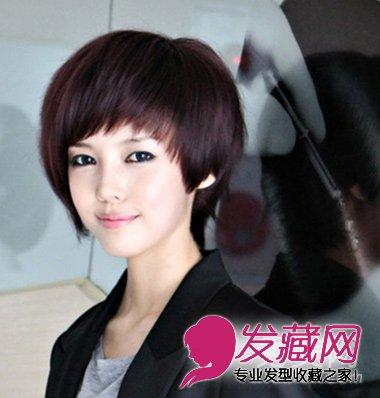 俏皮萌范的短发发型 显脸可爱的发型(5)